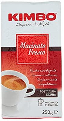 250gr Kimbo - Macinato Fresco, Caffè di Napoli, Tostatura Media