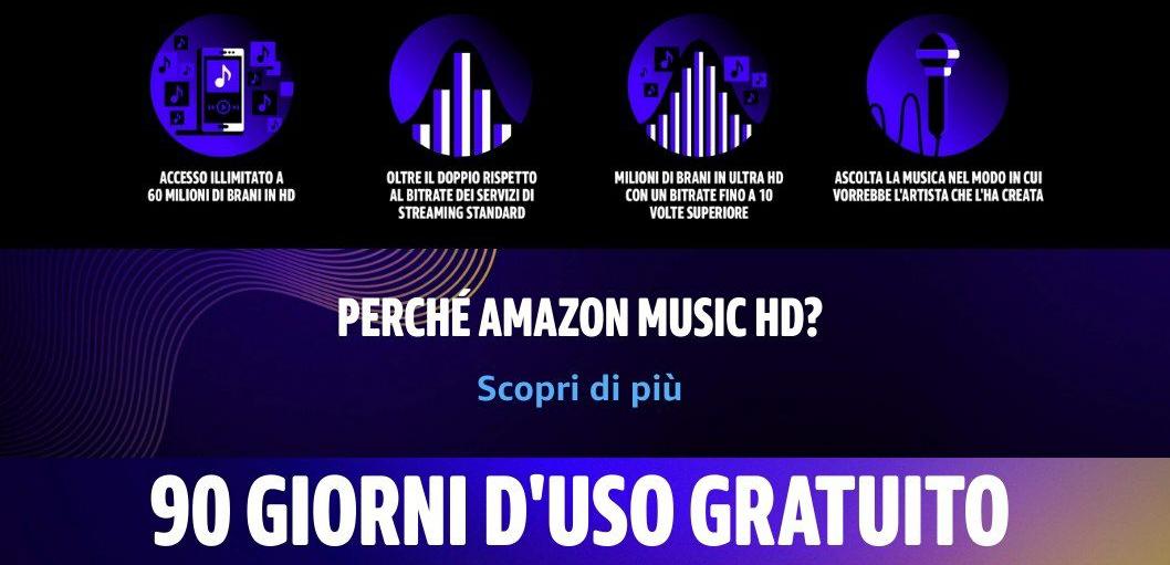 Amazon Music HD 90 giorni GRATIS