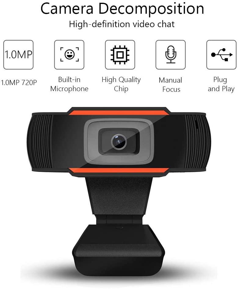 Lepeuxi Webcam 720P per videochiamate e streaming