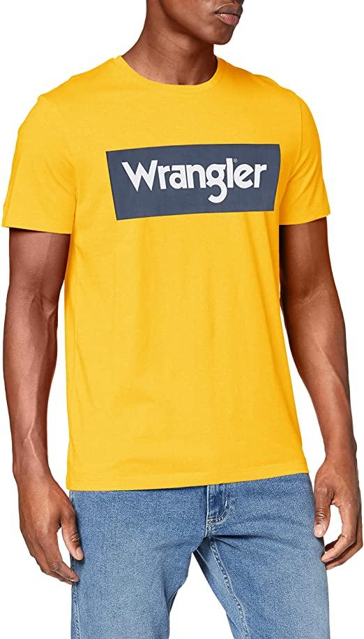 T-Shirt Wrangler Gialla con logo