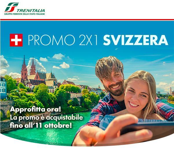 2x1 Biglietti Italia - Svizzera Trenitalia