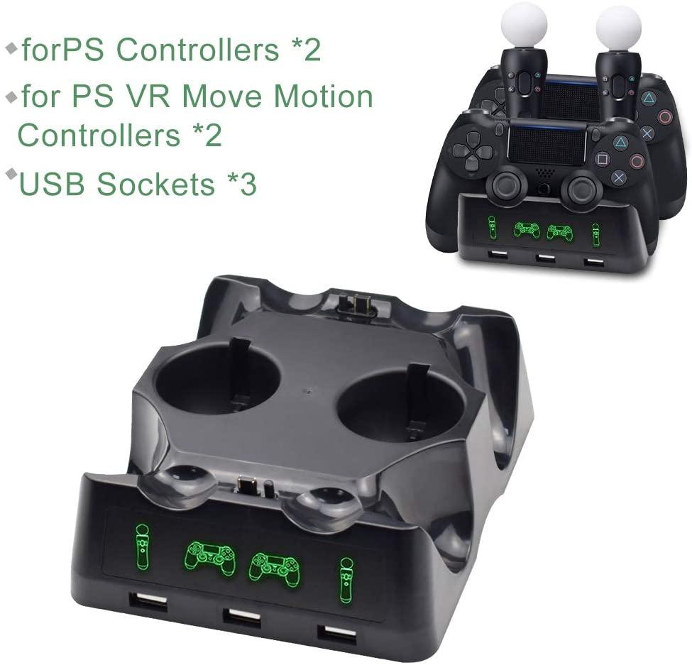 Base di Ricarica Controller PS4 con LED