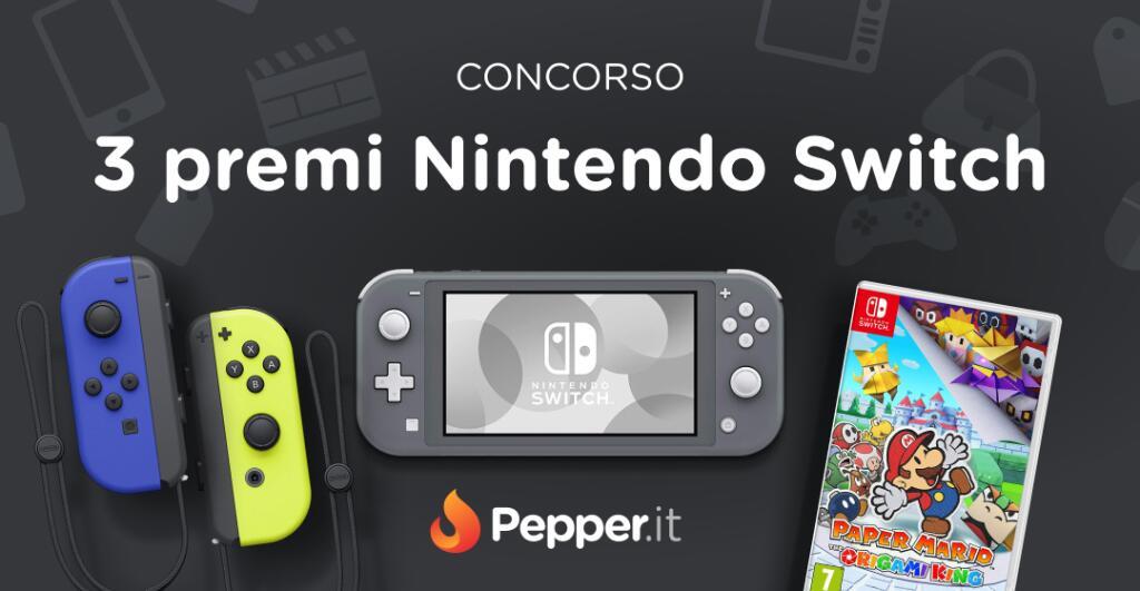 Concorso Vinci Uno dei 3 Premi Nintendo Switch