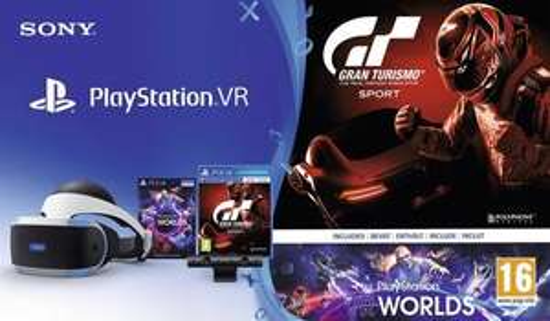 Set PlayStation VR Camera + VR Worlds + GT Sport 179€