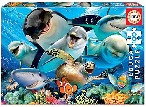 Educa Borras- Selfie Underwater Puzzle 100 pezzi