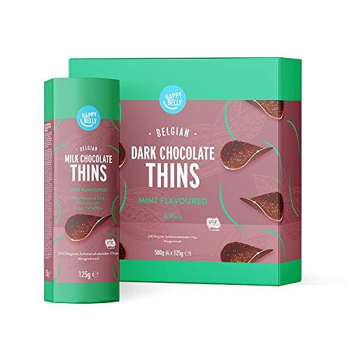 Happy Belly - Chips di cioccolato fondente belga - All'aroma di menta,4x125g