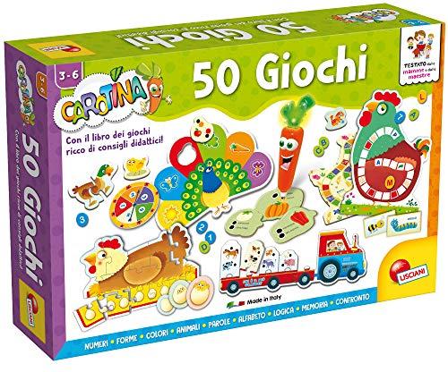 Lisciani Giochi - 76710 Gioco per Bambini Carotina, Penna Parlante, 50 Giochi