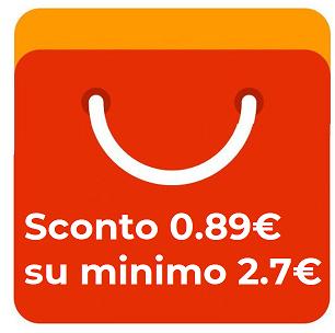 Coupon 0.89€ Tutto Aliexpress -0.89€ sconto€