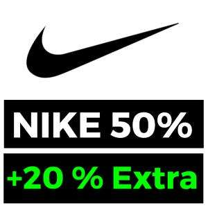 50% + 20% Extra Outlet Nike