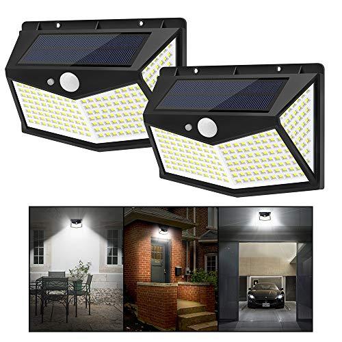 2 x Faretti ad Energia Solare con Sensore di Movimento