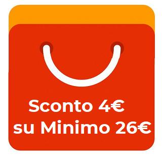 Coupon 4€ Tutto Aliexpress -4€ sconto€