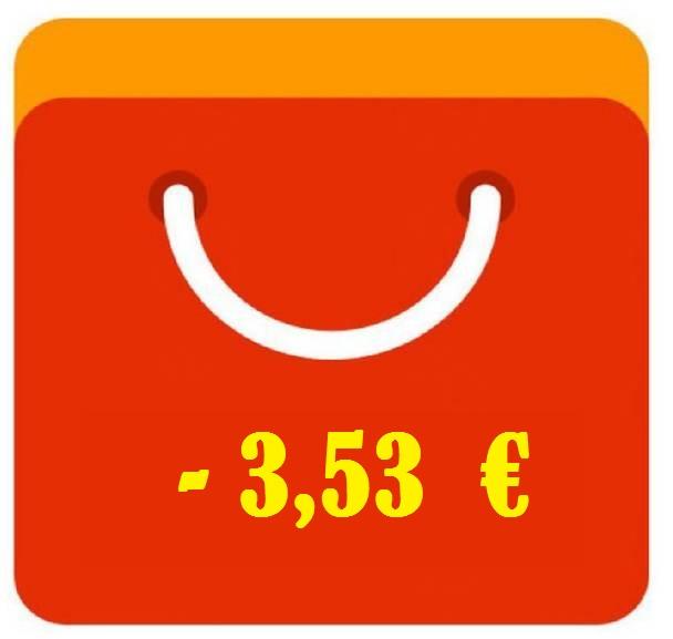 Codice sconto Aliexpress - nuovi utenti 3,53 € su 4,55 €