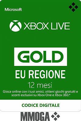 Xbox Live Gold Abbonamento 12 Mesi ITA