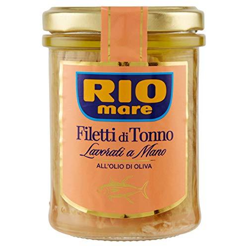 Rio Mare, Filetti di Tonno all'Olio di Oliva, Lavorati a Mano, 1 Vasetto da 180 g