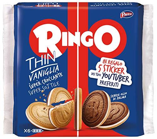 Pavesi Biscotti Ringo Thin Vaniglia, Snack da 234 g