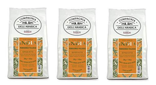 Caffè Corsini Compagnia dell'Arabica Caffè India 3 pacchi da 250g