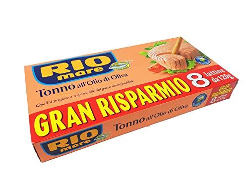 8x120gr Rio Mare, Tonno all'Olio di Oliva, Qualità Pinne Gialle
