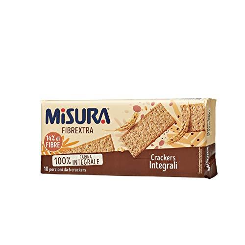 Misura Crackers Integrali Fibrextra | 14% di Fibre e 100% Farina Integrale | Confezione da 385 grammi