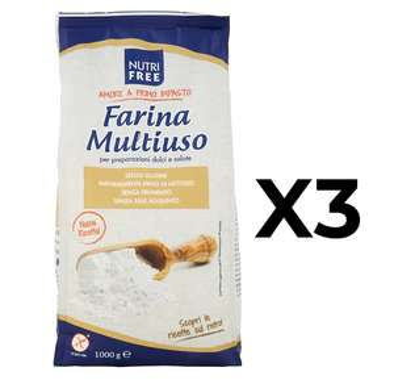 Farina 3x1KG Senza Glutine 3.3€