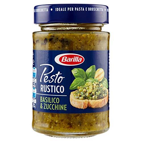 Barilla Sugo Pesto Rustico Basilico e Zucchine, Senza Glutine - 200 g