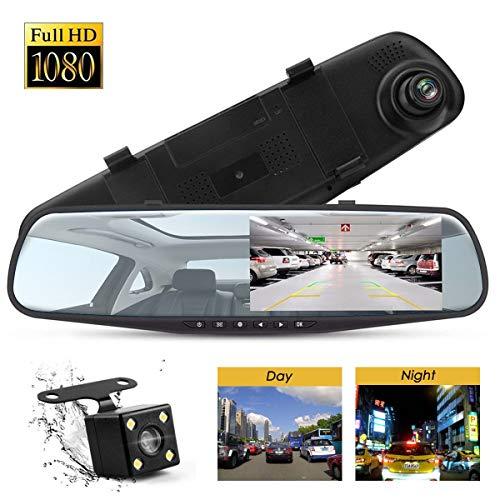 Specchietto Dash cam recorder 1080 + Kit Telecamera Posteriore