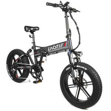 Bicicletta elettrica pieghevole LAOTIE FT5 20″Fatbike 48V 10Ah 500W