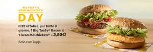 Big Tasty & Gran McChicken a 2,50€