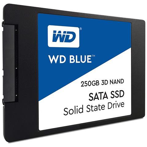 """WESTERN DIGITAL - SSD 250 GB WD Blue 3D NAND 2.5"""" Interfaccia Sata III 6 GB / s"""