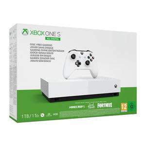 Xbox One S 1TB All Digital Edition + 3 Giochi Digitali: Sea of Thieves, Minecraft e Fortnite
