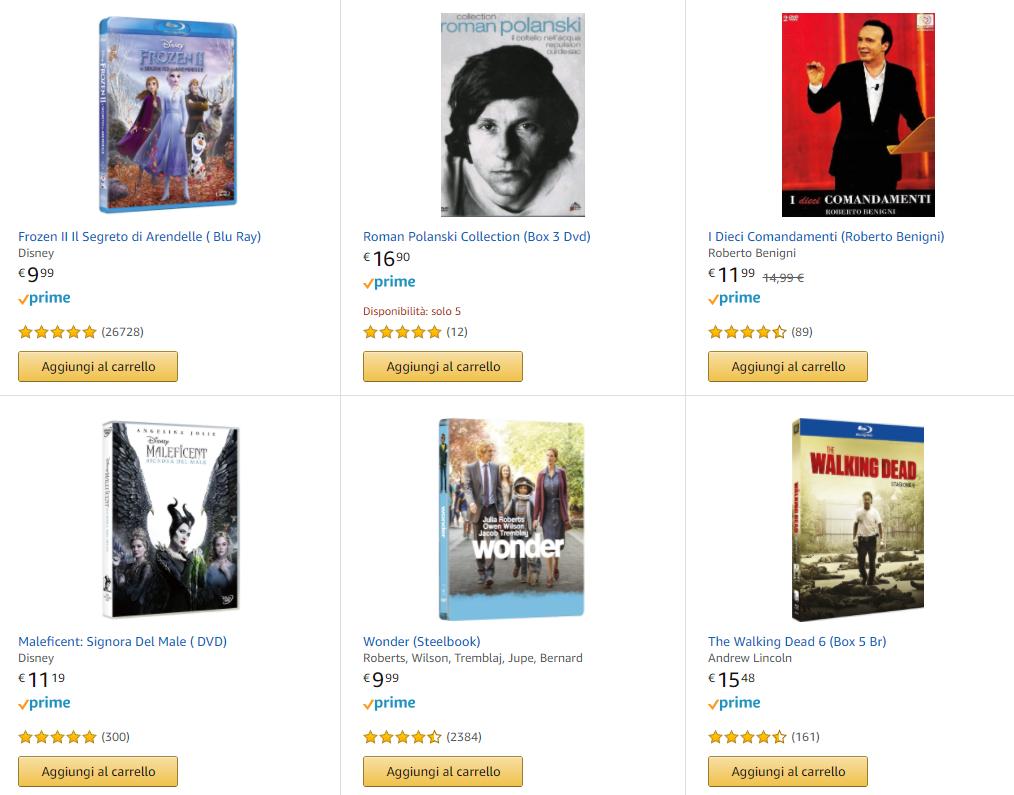 4 titoli DVD e BLu-ray a 40€
