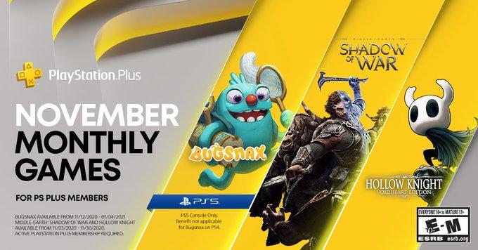 PlayStation Plus - Giochi Novembre 2020