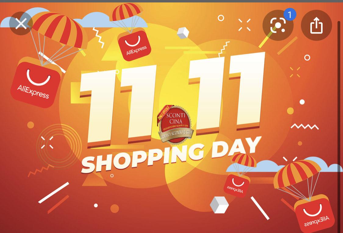 Aliexpress - Sconti fino al 70% FESTIVAL MONDIALE DELLO SHOPPING 11.11 2020