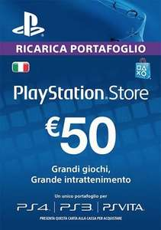 Carta PlayStation Network 50€ 35€ e 20€ (Italia) (IT)