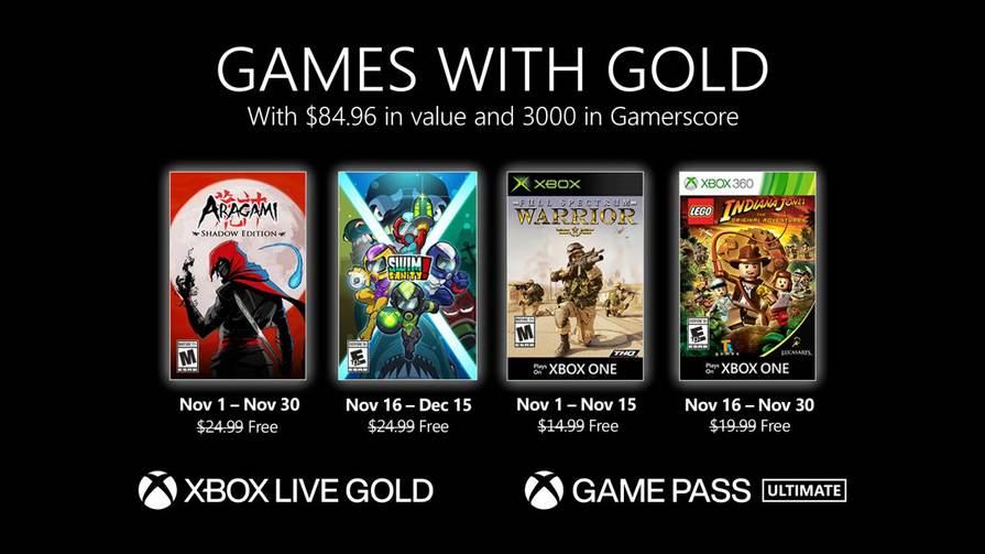 Xbox Games with Gold - Novembre 2020