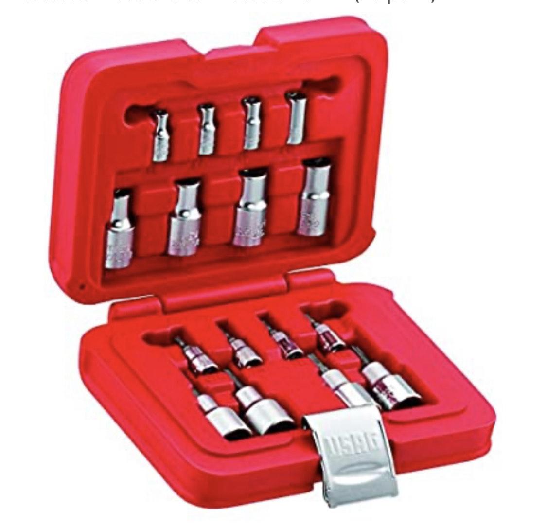 USAG 601 1/4-1/2 JTX16- cassetta attrezzi TORX 16 pezzi