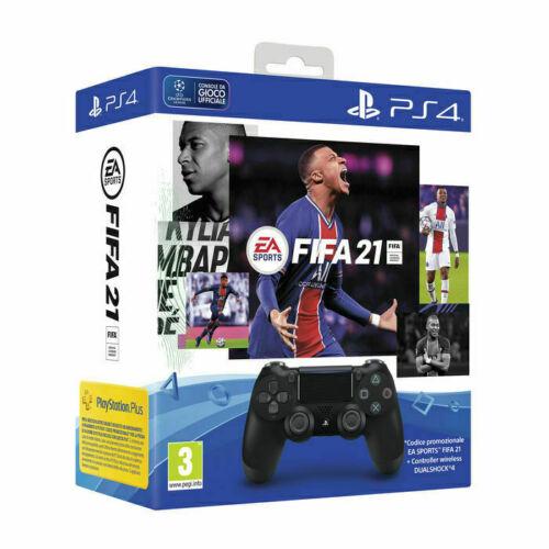 BUNDLE SONY DUALSHOCK 4 V2 NERO + FIFA 21 PS4