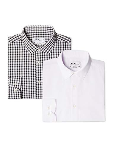 Brand find. - 2 Camicie Formale Uomo (Pacco da 2) taglia 39