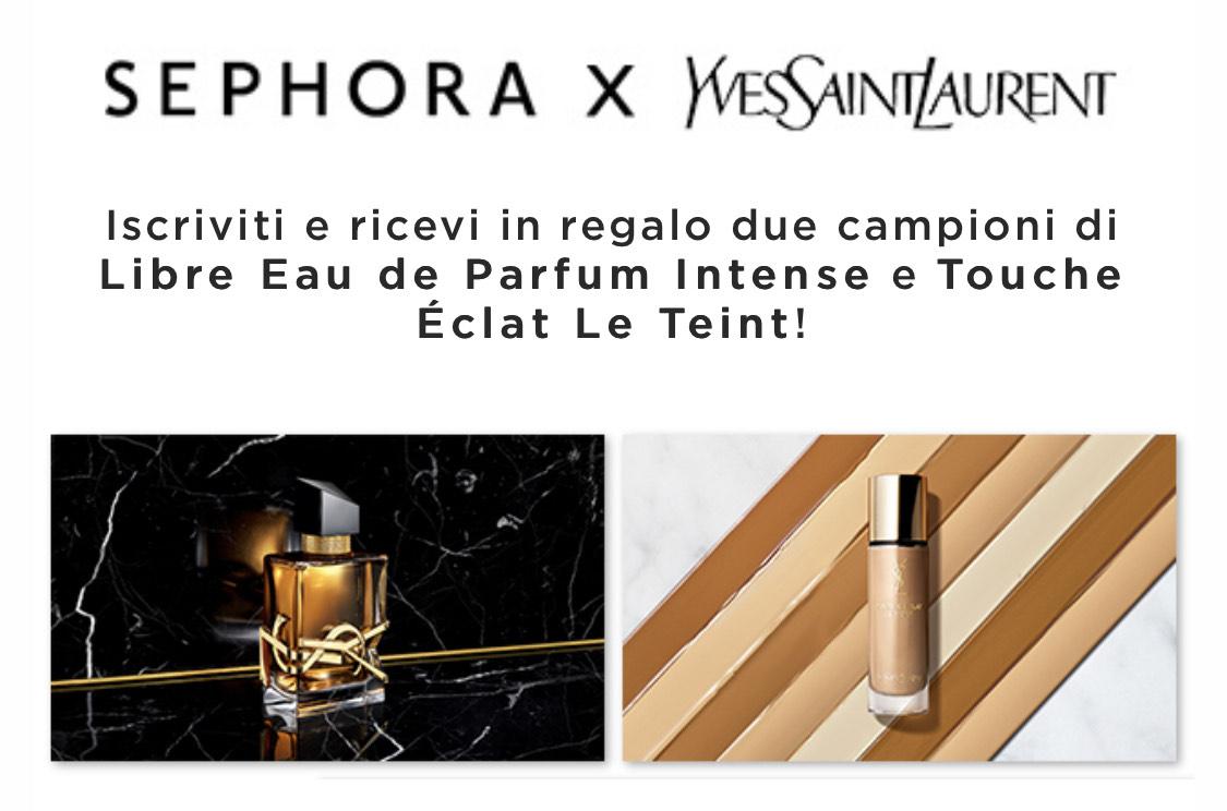 Sephora - iscriviti e ricevi due campioni omaggio