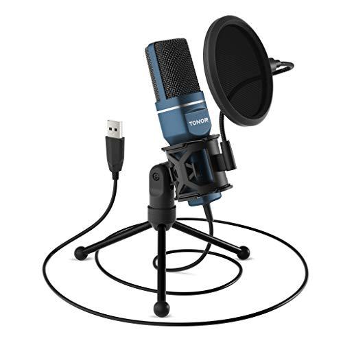 TONOR PC Microfono USB per Computer con condensatore