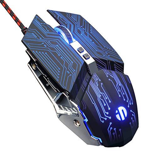Mouse Gaming 4800DPI 7 Pulsanti LED RGB