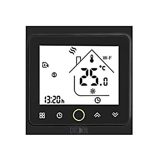 Decdeal Termostato WiFi per Caldaia a Gas/Acqua - Thermostat Intellight Programmabile, Compatibile con Alexa/Google Home