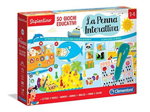 Clementoni- Sapientino-La Penna Interattiva 50 Giochi Educativi