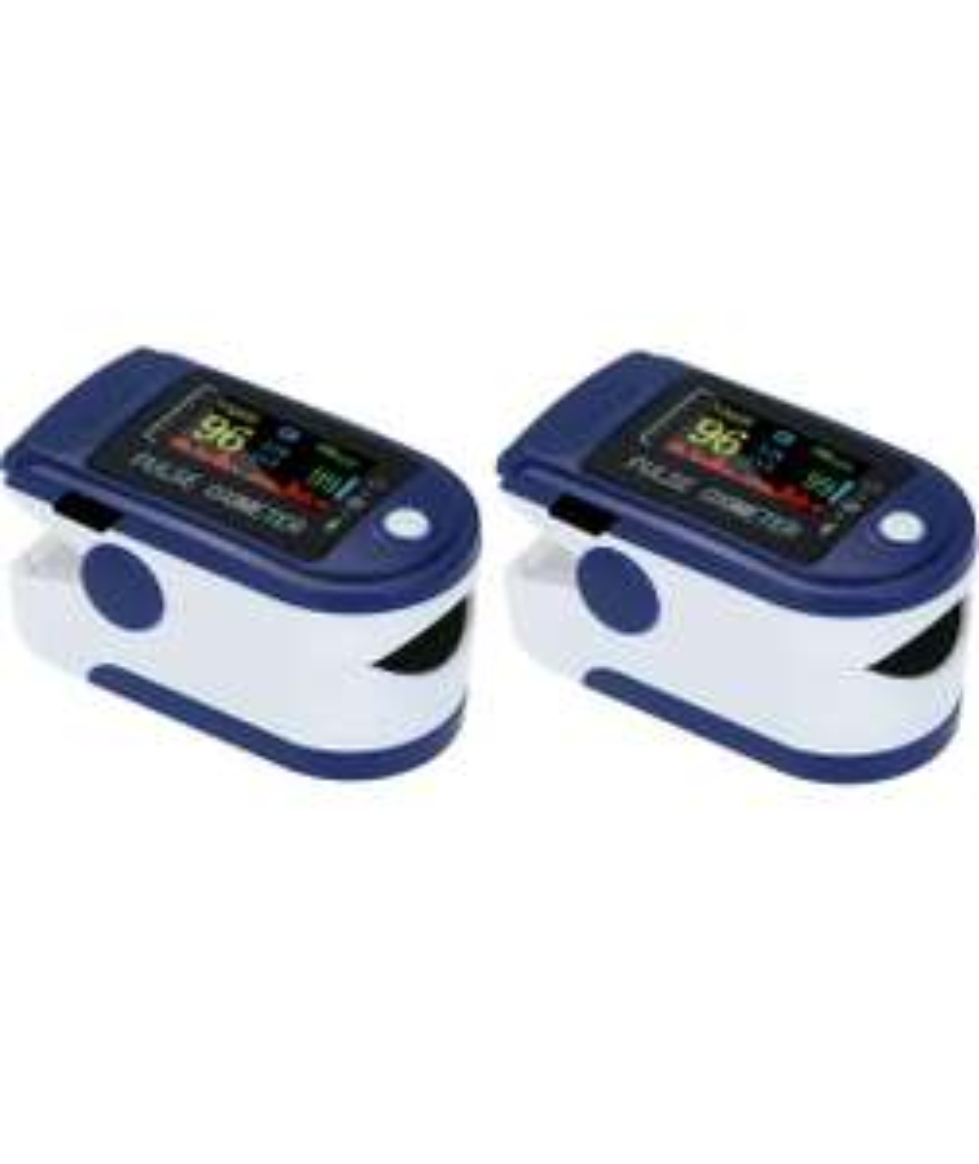 Moobody Pulsossimetro, 2 Pezzi Pulsossimetro Digitale da Dito Display OLED Sensore di Ossigeno nel Sangue Saturazione