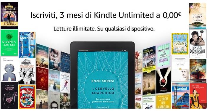 3 mesi Kindle Unlimited GRATIS