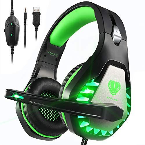 Cuffie Gaming con Microfono,3.5mm Cuffie da Gaming con Cancellazione del Rumore, Stereo Bass per PS4, Xbox One, PC, Mac