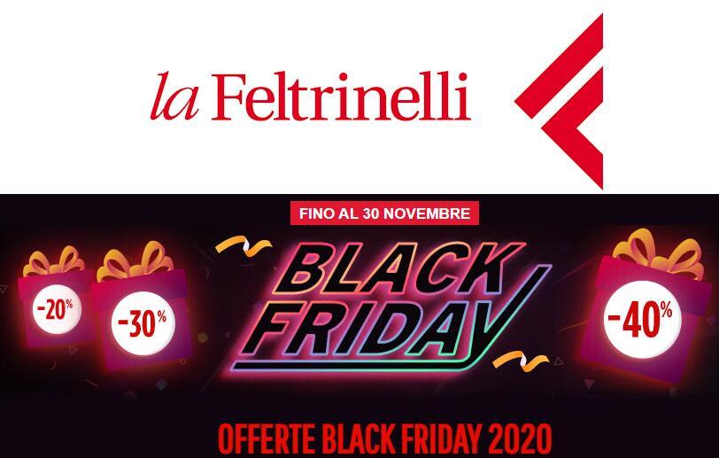 """Black Friday """"La Feltrinelli"""" su Libri, Musica, Cartoleria e altro da 40%"""