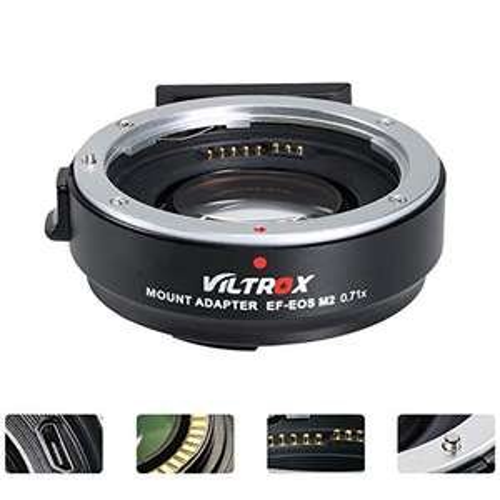 VILTROX EF-EOS M2 Lens 0.71 x Speed booster adattatore per Canon EF Lens a EOS EF-M fotocamera mirrorless AF auto focus riduttore