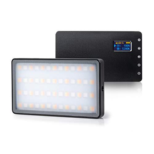 VILTROX Weeylite RB08P RGB Luce Video LED Regolabile Bicolore 2500K ~ 8500K Illuminazione per DSLR fotocamera Studio Fotografico
