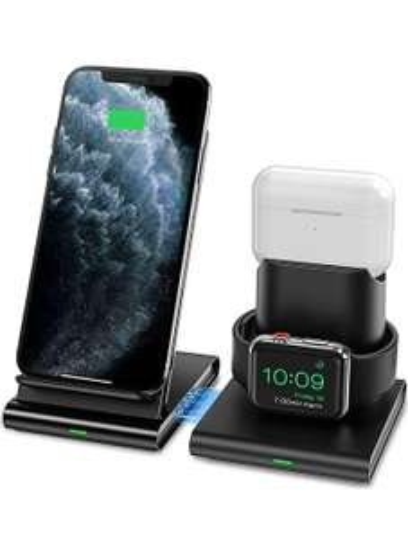 Seneo Caricatore Wireless, Caricabatterie Wireless 3 in 1