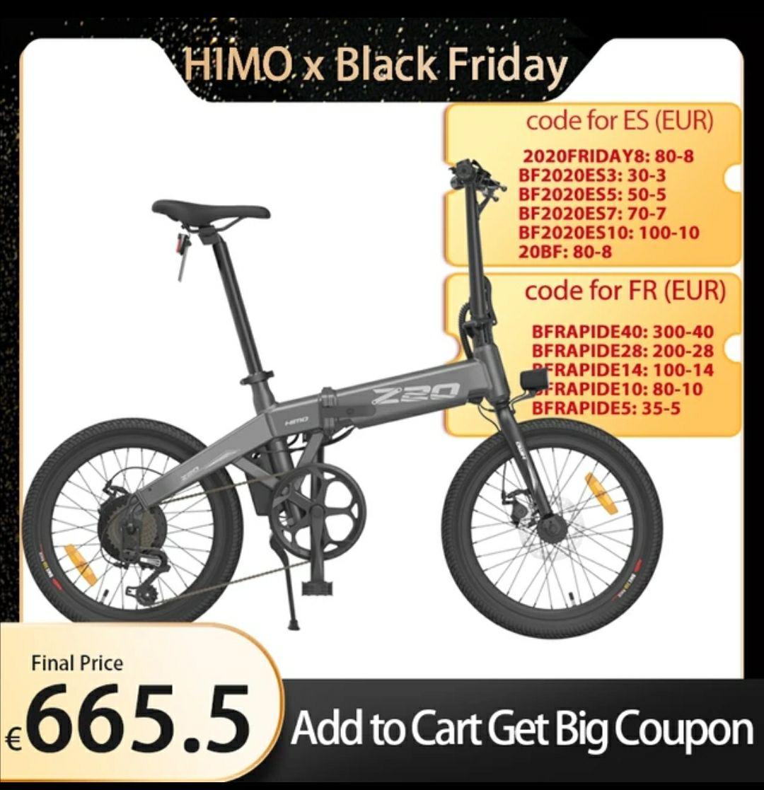 bicicletta elettrica pieghevole HIMO Z20